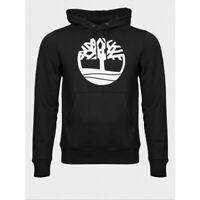 Men's Timberland Hoodie Black Core Logo Tree Jumper Hoody Pullover Sweatshirt UK