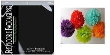 Black Bulk Wrap Pom Tissue Paper 15 Inch X 20 - 100 Ct-Flexicore.