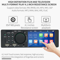 "4.1"" HD 1 Din Car Radio Stereo FM AM WMA Bluetooth In-Dash MP5 Player Udisk"
