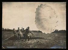 Foto - Fallschirmspringer m. Fallschirm - 1.WK - selten -
