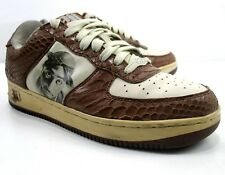 Makaveli - Tupac 2Pac - Face Photo Branded Sneakers - Faux Snakeskin - Size 8.5