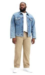 New Levis Mens 559 0057 Loose Straight Leg Relaxed Khaki Big Denim Jeans 46 x 34