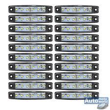 20x Weiss 6 LED Seitenleuchte Begrenzungsleuchte Umrissleuchte LKW 12V 24V A11w