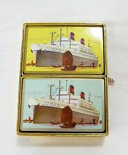Vintage playing cards American president lines ship nautical two decks in box
