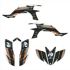 Yamaha YFZ 450 graphics kit 2003 2004 2005 2006 2007 2008 stickers #5600 Orange