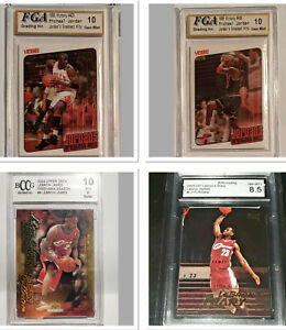 Michael Jordan 1999-00 Victory/ Lebron James 2003-04 Rookie Cards Graded 8.5 &10