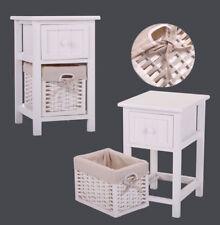 Furniture Storage Wood Bedroom Night Stand Bedside End Table w/ 1 Basket