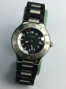 Mens Cartier 21 Chronoscaph 2427 Watch  Genuine Available Worldwide