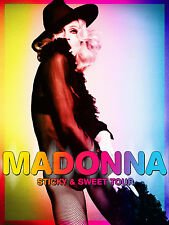 "MADONNA ""STICKY & SWEET TOUR"" POSTER - Wearing Hat & Fishnets!"