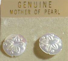 Vintage Mother of Pearl (MOP) Round Pierced Earrings