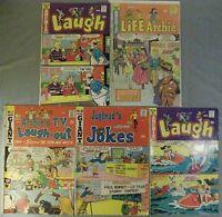 Lot 5 Archie's Comics Laugh Life with Archie Jughead's Laugh-out Jokes TV 1970's