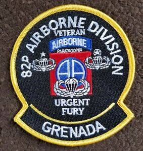 US ARMY Operation Urgent Fury 82nd Airborne GRENADA Military Patch
