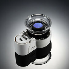 Lupa Lente Aumento 45X Ajustable & Luz LED Y UV Gemas Joyeria Sellos Monedas ...