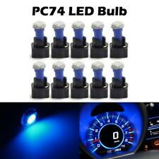 10Pack Twist Socket Blue T5 37 73 led 5050 SMD Instrument Cluster Dash Led Light