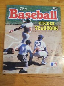 1984 Topps Baseball Sticker Yearbook W/234 Stickers Installed. Good Condition