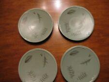 4 Pfaltzgraff  Naturewood GREEN stoneware 9 3/4 inch Buffet luncheon Plates SET