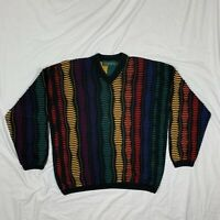 Tundra Canada Multicolored Pullover Sweater XL Coogi Cosby Biggie Style