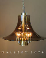 MID CENTURY MODERN ATOMIC CHANDELIER! LAMP BRASS CHROME PANTON SPACE AGE 60S VTG