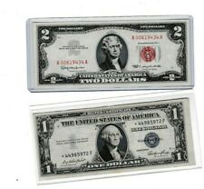 1963 RED SEAL $2 UNITED STATES NOTE 00 & 1935E $1 Silver Certificate STAR  ⭐⭐