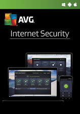 Download AVG Internet Security 2018, 1 Device 1 Year Retail License NEW & RENEW