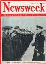1943 Newsweek March 29 - Patton takes over in Tunisia; The Church in the Reich