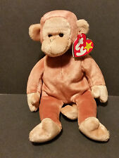 1995 Ty Beanie Baby Bongo the Monkey PE Pellets W/Tags
