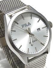 Fila Herren Uhr mit Milanese Armband und Datumsanzeige 38-829-003 FI 34