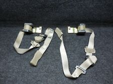 1999-2004 F250 F-250 OE SUPERDUTY CREW CAB OEM TAN LH & RH REAR SEAT BELTS PAIR