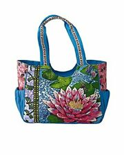 Messina Tropical Lily Pad Tote, Multi Blue, One Size