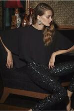 NWT BCBG MAXAZRIA Sequin High-Low Jumpsuit Color Black Size M