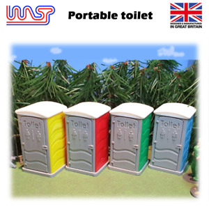 WASP 3D printed portable toilet kit, event toilet, track side, scenery, 1/32,