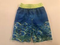 THE CHILDREN'S PLACE BOY TODDLER FISH SWIM TRUNKS SIZE 3T