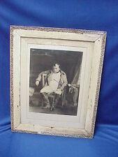 "Napoléon Bonaparte Ornate WOOD Framed Print 18"" by 23"" Napoleon applique frame"