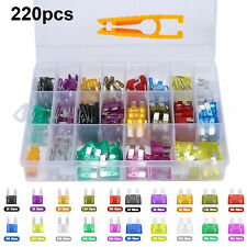 220pc Blade Fuse Assortment Auto Car Truck Motorcycle Fuses Kit ATC ATO ATM EOA
