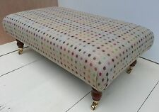 New Large Footstool 100% Wool Moon Tartan Choose from 21 fabrics, Legs & Sizes!