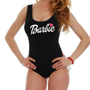 Women Barbie Bodysuit High Quality Leotard Ladies Black Tank Top Blouse t shirt