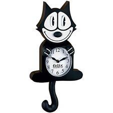 Reloj De Pared De Animacion Nj Croce Felix El Gato Nuevo Libre Envio
