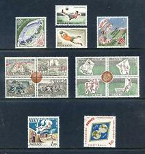 Monaco 1963 - 1964 run of 15 commemorative sets unmounted mint (2017/05/24#19)