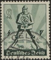 Stamp Germany Mi 745 Sc B171 1940 WWII Fascism Labor Day May Knight Used