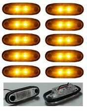 10x Led Amber Orange Marker Lights Lamps Position 24v Truck Man Daf Scania Volvo