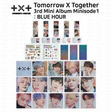 TXT 3rd Mini Album Minisode1 Blue Hour Photocard Postcard Sticker Behind Book
