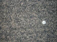 CHUNKY CROCHET CHEVRON WOOL KNIT-TAUPE/BLACK-FASHION/CRAFT FABRIC -FREE P+P