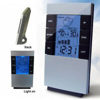 LCD Wireless Weather Station Alarm Clock Indoor & Outdoor Thermometer Calendar