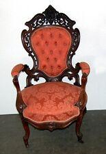 Rococo Revival Armchair by J.W. Meeks, Victorian era, 1865 #7198