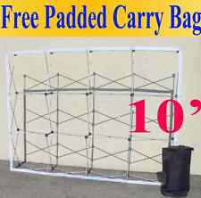 10 Pop Up Tension Fabric Trade Show Display Booth Frame Stand Pop Up Free Case
