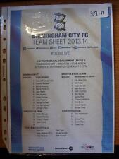 21/09/2013 Birmingham City Youth v Brighton And Hove Albion Youth [At Wast Hills