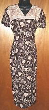 Paisley Print Column Dress All That Jazz a Chorus Line Co size 5 / 6 Vintage 90s