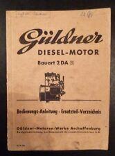 Güldner Dieselmotor 2 BA manuale di istruzioni + et-elenco