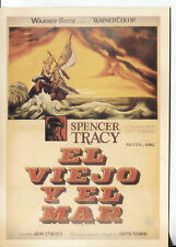 POST CARD OF AN OLD MOVIE POSTER IN SPANISH OLD MAN AND THE SEA SPENCER TRACY