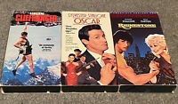 Sylvester Stallone 3 VHS Lot (Cliffhanger/Oscar/Rhinestone)